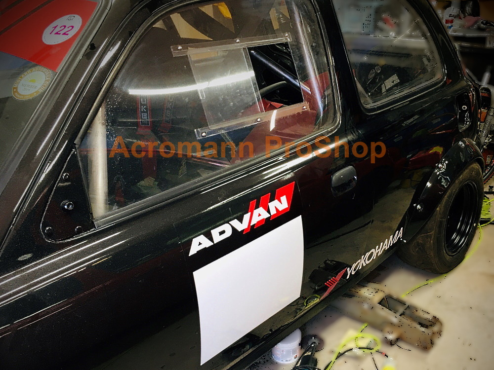 ADVAN Racing Track Race Number Plate Door Decals Stickers(#2) x2
